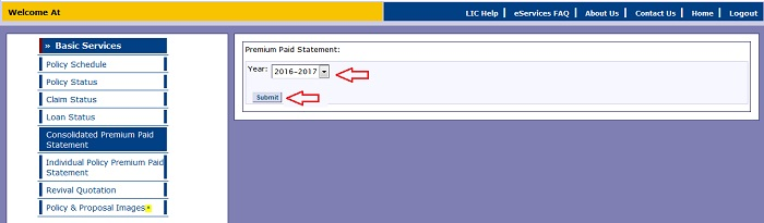 How to download LIC Policy Premium Payment Receipt – Paid Receipt