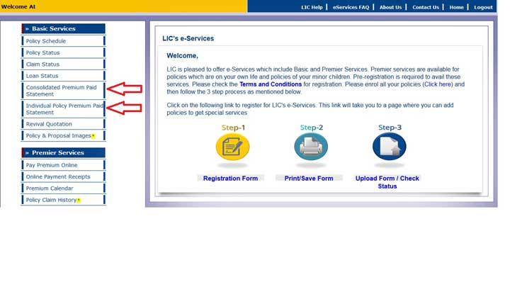 How to download LIC Policy Premium Payment Receipt – Payment Receipt